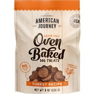 American Journey Turkey Recipe Grain-Free Oven Baked Crunchy Biscuit Dog Treats, 8-oz
