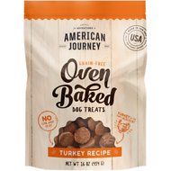American Journey Turkey Recipe Grain-Free Oven Baked Crunchy Biscuit Dog Treats, 16-oz