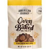American Journey Chicken Recipe Grain-Free Oven Baked Biscuit Dog Treats, 8-oz