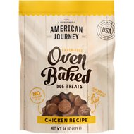 American Journey Chicken Recipe Grain-Free Oven Baked Crunchy Biscuit Dog Treats, 16-oz