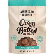 American Journey Lamb Recipe Grain-Free Oven Baked Crunchy Biscuit Dog Treats, 8-oz