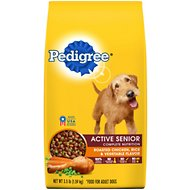 Pedigree Active Senior Roasted Chicken, Rice & Vegetable Flavor Dry Dog Food, 3.5-lb bag