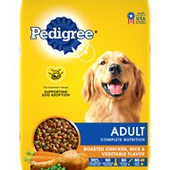 Pedigree Adult Complete Nutrition Roasted Chicken, Rice & Vegetable Flavor Dry Dog Food, 17-lb bag