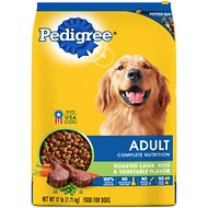 Pedigree Adult Complete Nutrition Roasted Lamb, Rice & Vegetable Flavor Dry Dog Food, 17-lb bag