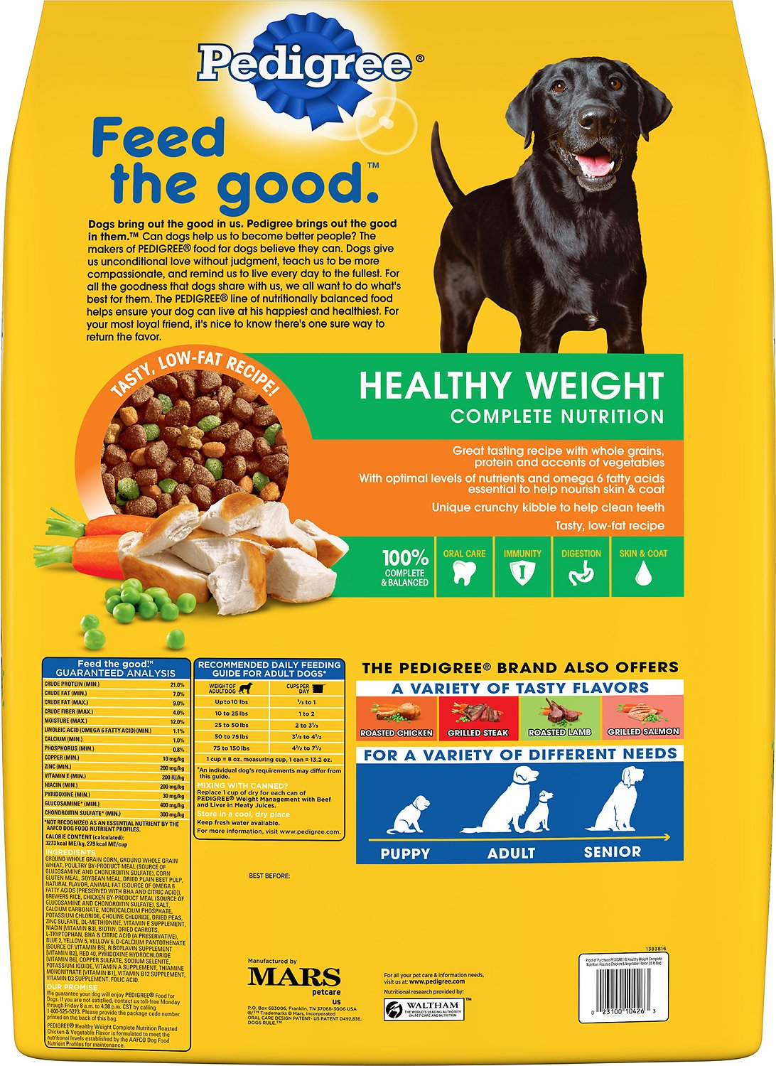 Pedigree Dog Food Serving Size