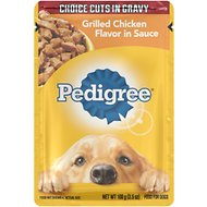 Pedigree Choice Cuts Grilled Chicken Flavor in Sauce Wet Dog Food, 3.5-oz, case of 16