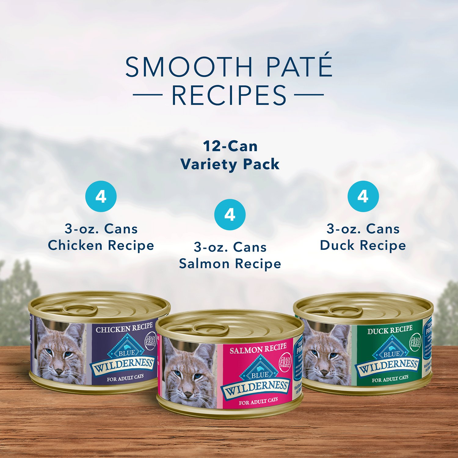 Blue Buffalo Canned Cat Food Variety Pack