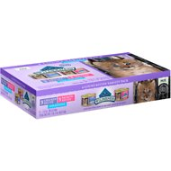 Blue Buffalo Wilderness Pate Kitten Variety Pack with Chicken & Salmon Grain-Free Cat Food Trays, 3-oz, case of 6