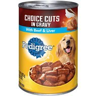 Pedigree Choice Cuts in Gravy With Beef & Liver Canned Dog Food, 22-oz, case of 12