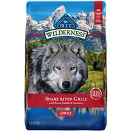 Blue Buffalo Wilderness Snake River Grill Trout, Venison & Rabbit Formula Grain-Free Dry Dog Food, 22-lb bag