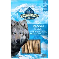 Blue Buffalo Wilderness Denali Stix Salmon, Venison & Halibut Formula Grain-Free Dog Treats, 6-oz bag