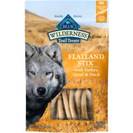 Blue Buffalo Wilderness Flatland Stix Turkey, Quail & Duck Grain-Free Dog Treats, 6-oz bag