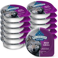 Blue Buffalo Wilderness Trail Trays Beef Grill Formula Grain-Free Dog Food Trays, 3.5-oz, case of 12