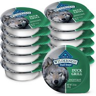 Blue Buffalo Wilderness Trail Trays Duck Grill Formula Grain-Free Dog Food Trays, 3.5-oz, case of 12
