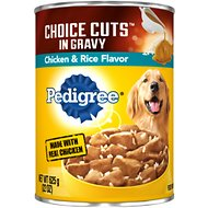 Pedigree Choice Cuts in Gravy With Chicken & Rice Canned Dog Food, 22-oz, case of 12