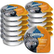 Blue Buffalo Wilderness Trail Trays Turkey Grill Formula Grain-Free Dog Food Trays, 3.5-oz, case of 12