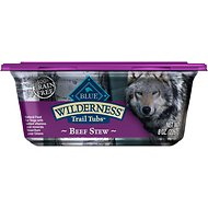 Blue Buffalo Wilderness Trail Tubs Beef Stew Grain-Free Dog Food Trays, 8-oz, case of 8