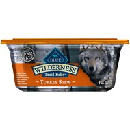 Blue Buffalo Wilderness Trail Tubs Turkey Stew Grain-Free Dog Food Trays, 8-oz, case of 8