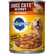 Pedigree Choice Cuts in Gravy With Chicken Canned Dog Food, 13.2-oz, case of 12