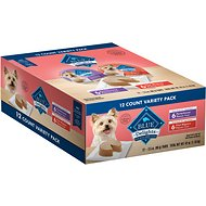 Blue Buffalo Divine Delights Pate Variety Pack Filet Mignon & Porterhouse Flavor Dog Food Trays, 3.5-oz, case of 12