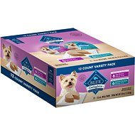 Blue Buffalo Divine Delights Pate Variety Pack Top Sirloin & Grilled Chicken Flavor Dog Food Trays, 3.5-oz, case of 12