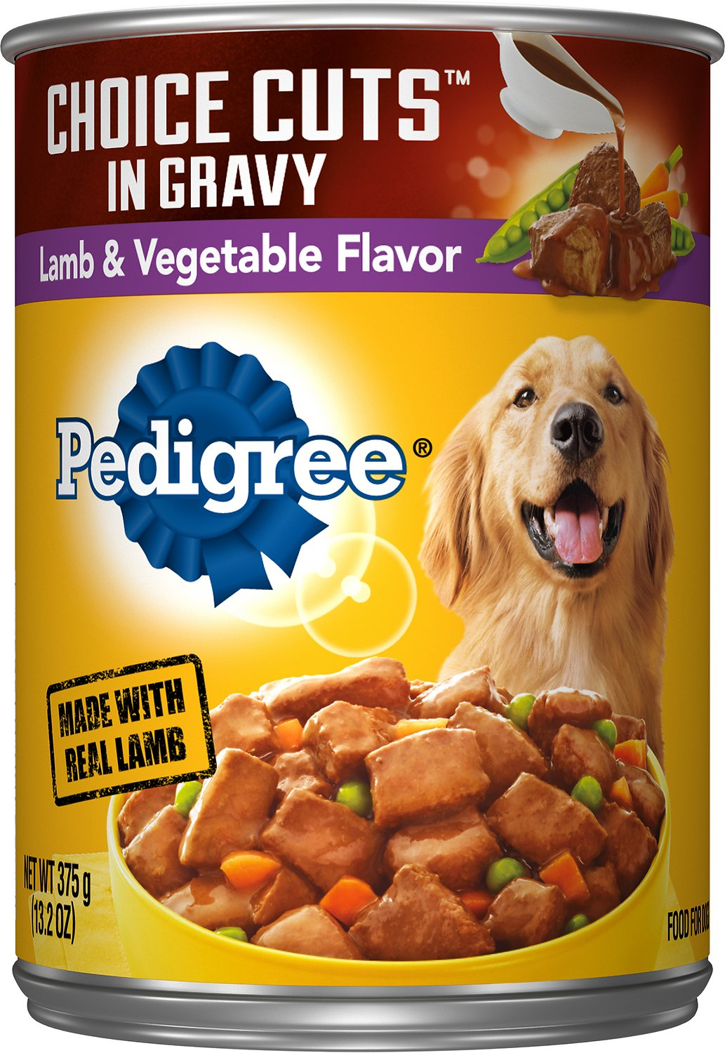 Pedigree Canned Dog Food Lamb With Gravy