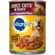 Pedigree Choice Cuts in Gravy With Lamb & Vegetables Canned Dog Food, 13.2-oz, case of 12