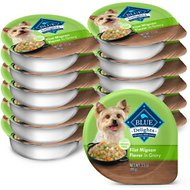 Blue Buffalo Divine Delights Filet Mignon Flavor Hearty Gravy Dog Food Trays, 3.5-oz, case of 12