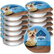 Blue Buffalo Divine Delights Rotisserie Chicken Flavor Hearty Gravy Dog Food Trays, 3.5-oz, case of 12