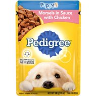 Pedigree Choice Cuts Puppy Morsels in Sauce With Chicken Wet Dog Food, 3.5-oz, case of 16