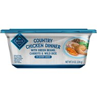 Blue Buffalo Country Chicken Dinner with Green Beans, Carrots & Wild Rice Dog Food Trays, 8-oz, case of 8