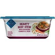 Blue Buffalo Hearty Beef Stew with Potatoes, Carrots & Peas Dog Food Trays, 8-oz, case of 8