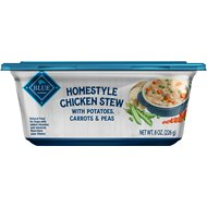 Blue Buffalo Homestyle Chicken Stew Recipe with Potatoes, Carrots & Peas Dog Food Trays, 8-oz, case of 8