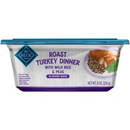 Blue Buffalo Roast Turkey Dinner with Wild Rice & Peas Dog Food Trays, 8-oz, case of 8