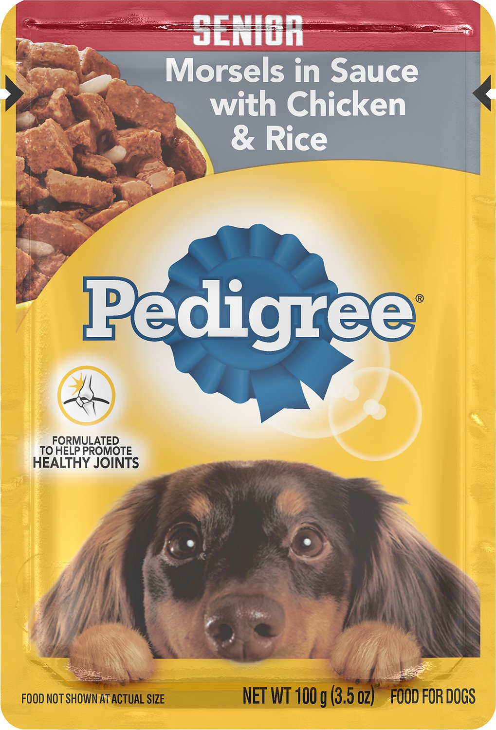 Pedigree Choice Cuts Senior Morsels In Sauce With Chicken Rice Wet
