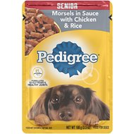 Pedigree Choice Cuts Senior Morsels in Sauce With Chicken & Rice Wet Dog Food, 3.5-oz, case of 16
