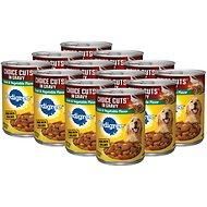 Pedigree Choice Cuts in Gravy Steak & Vegetable Flavor Canned Dog Food, 13.2-oz, case of 12