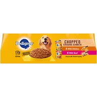 Pedigree Chopped Ground Dinner Variety Pack With Beef & Chicken Canned Dog Food, 13.2-oz, case of 12