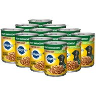 Pedigree Chopped Ground Dinner Weight Management Chicken & Rice Canned Dog Food, 13.2-oz, case of 12