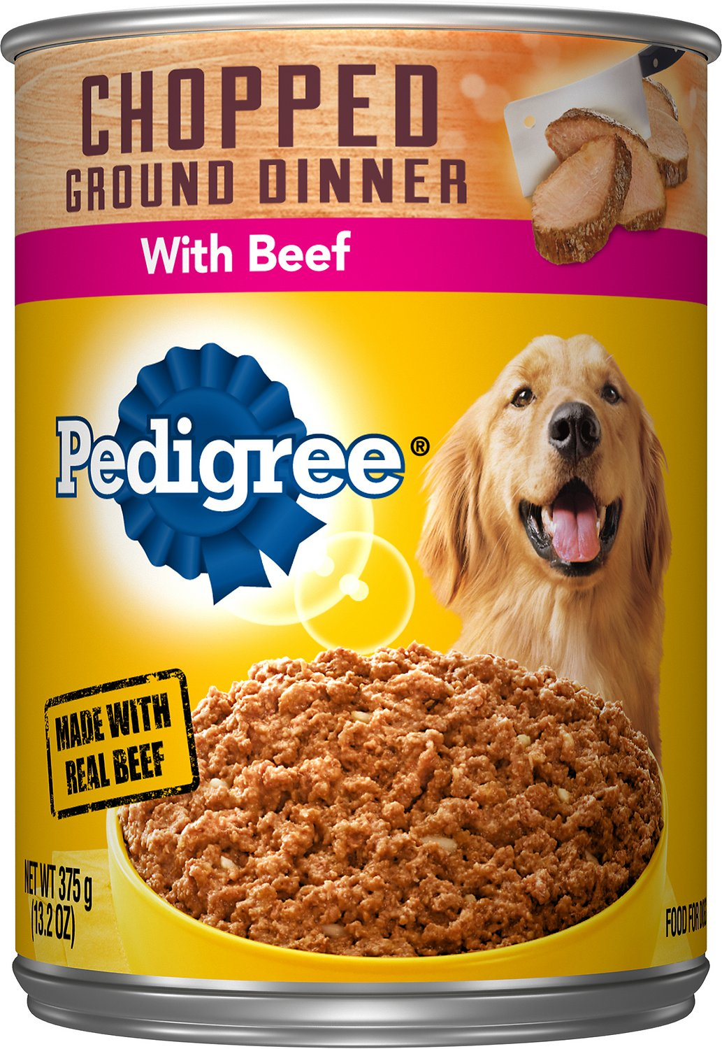 Best Canned Dog Food >> Pedigree Chopped Ground Dinner With Beef Canned Dog Food 13 2 Oz Case Of 12
