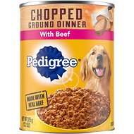 Pedigree Chopped Ground Dinner With Beef Canned Dog Food, 13.2-oz, case of 12