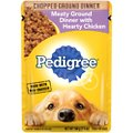 Pedigree Chopped Meaty Ground Dinner With Hearty Chicken Wet Dog Food