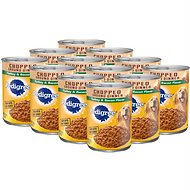 Pedigree Chunky Ground Dinner With Turkey & Bacon Canned Dog Food, 13.2-oz, case of 12