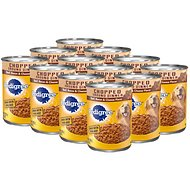 Pedigree Chunky Ground Dinner With Beef, Bacon & Cheese Flavor Canned Dog Food, 22-oz, case of 12