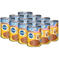 Pedigree Puppy Chopped Ground Dinner With Chicken & Beef Canned Dog Food, 13.2-oz, case of 12