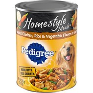 Pedigree Homestyle Meals  Roasted Chicken, Rice & Vegetable Flavor in Gravy Canned Dog Food, 13.2-oz, case of 12