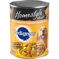 Pedigree Homestyle Meals Hearty Chicken & Vegetable Flavor in Gravy Canned Dog Food, 13.2-oz, case of 12
