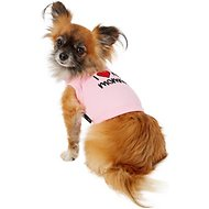 Parisian Pet I Love Mommy Dog & Cat T-Shirt, Pink, X-Small