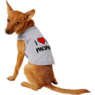 Parisian Pet I Love Mommy Dog & Cat T-Shirt, Gray, Small