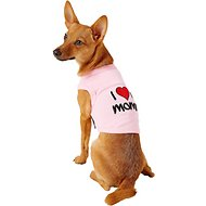 Parisian Pet I Love Mommy Dog & Cat T-Shirt, Pink, Small